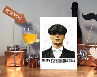 Peaky Blinders Card, Peaky Blinders Gift, Birthday Card, Peaky Blinders Birthday Card, Tommy Shelby, Peaky Blinder, Peaky Blinder Card