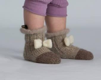 Hand Knit socks  Knitted socks Knit wool socks Gift for girl Winter knit socks Knitted slippers