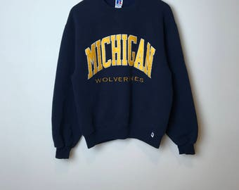 Vintage Russel Michigan Wolverines Sweater