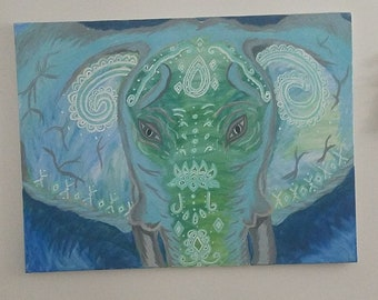 Elephant Mixed media painting
