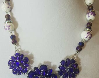 Statement Necklace, Beaded Necklace, Handmade Jewelry