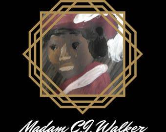 Madam C.J. Walker Folded Cards - Badass Ladies of History - Feminist Greeting Cards