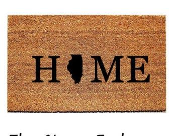 Customized Door Mat - Home - Indicate State of Choice in \