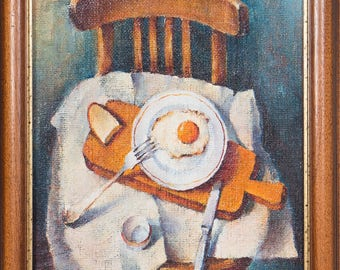 "Oil painting: ""Breakfast"" 2007. 60x40 (cm)"