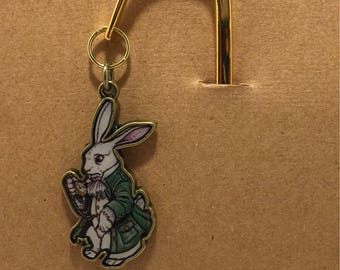Alice in Wonderland white rabbit bookmark