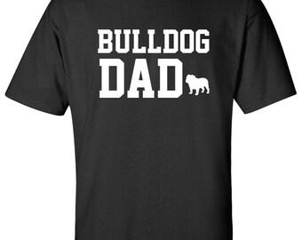 Bulldog Dog Dad Logo Graphic T Shirt