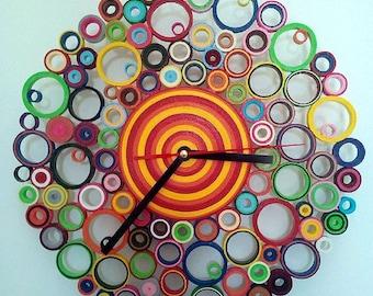 """""""Multicolor"""" paper wall clock-paper wall clock"""