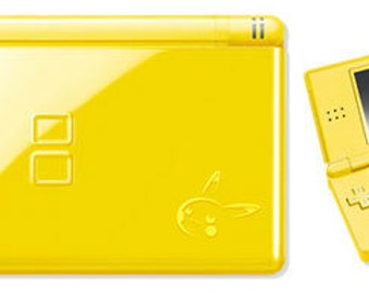Ninendo DS Lite console Pokemon Edition Boxed with 369 Games! Pikachu
