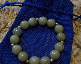 Jade and Silver harmony bracelet