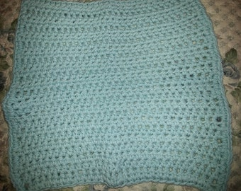 Light Blue Cotton Washcloth