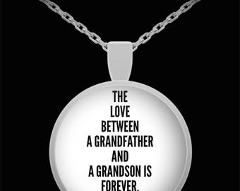 TO MY GRANDSON! Amazing Silver Plated Necklace