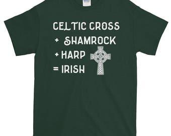 St. Patrick's Day Shirt, Celtic Cross Shirt, Shamrock Shirt, Harp Shirt, Irish Shirt, Green Shirt, Saint Patrick's Day T-shirt, Shamrock T-s