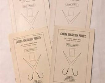 Four Clothing Construction Problem (Sewing) How To Vintage Booklets - (SW038ET)