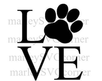 love dog paw