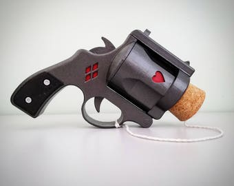Harley Quinn Cork Pop Gun - Functioning Parts - Cosplay Replica Prop