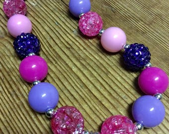 "Bubblegum bead ""daughter"" necklace"