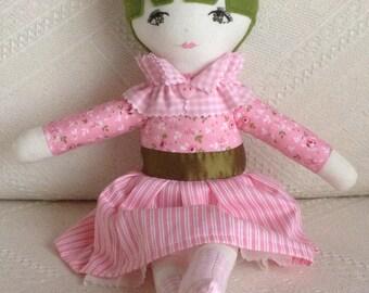 Handmade doll, decorative doll, heirloom doll, keepsake doll, collectable doll, rag doll, cloth doll