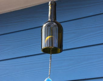 Wine Wind Bell with Agate