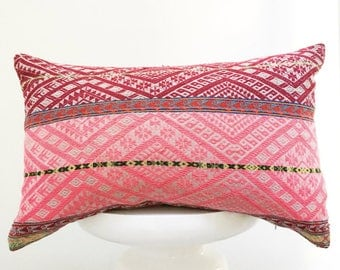 authentic Peruvian handmade pillow cover colorful decorative throw pillow embroidered bohemian boho cushion cover