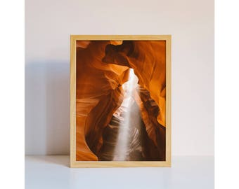Travel photography Antelope Canyon Arizona desert rock home decor original photo art print downloadable printable wall art