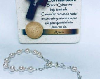 12pcs Mini First Communion Rosary Decade Favors