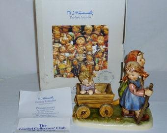 "1986 Hummel Figurine ""PLEASANT JOURNEY"" Hum 406 Trademark 6 with Original Box & Paperwork Collector's Club"