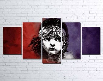 Les Mis 5pc Wall Canvas