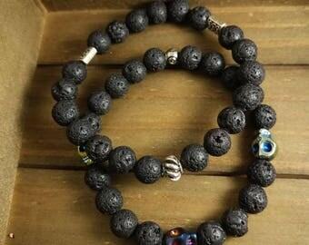 Midnight moon bracelet set