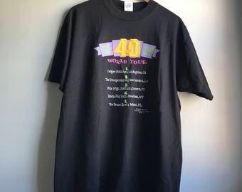 80s World Tour T-shirt - XL