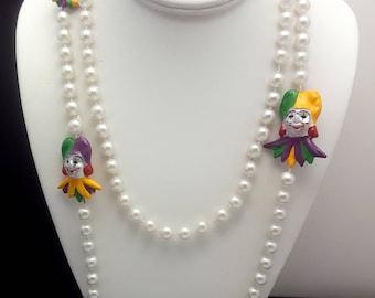 Vintage Mardi Gras Bead Necklace