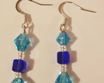 Blue/aqua earrings