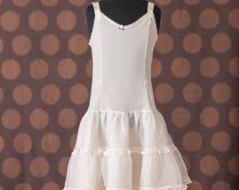 Girls White Petticoat Dress