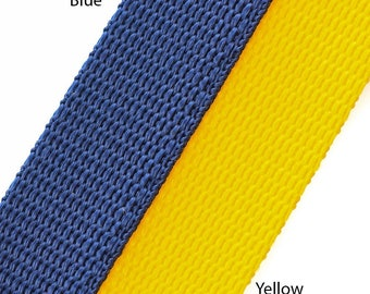 "2 metres of Extra strong polyproylene nylon webbing in various colours and sizes 3/4"" (19mm), 1"" (25mm), 1.1/2"" (38mm)"
