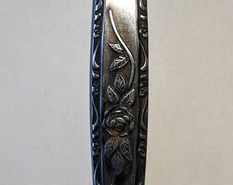 "Japan T&N Stainless Steel Fork ""Single Rose"" Pattern"