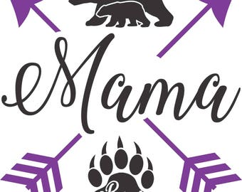 Mama Bear Arrows SVG PDF