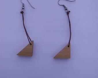 Handmade Yellow Poplar Wood Earrings