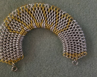 Dragonscale Gold and Silver Cuff
