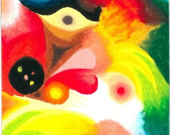 Inner landscape, 21x29.7 cm, oil Pastel