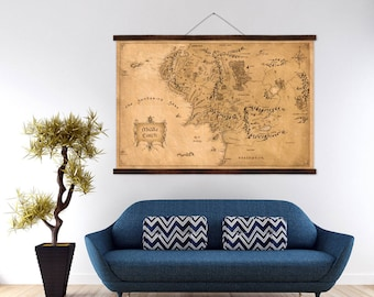 Huge Map of Middle Earth Lord of The Rings Print Poster 60x40 Inches Tolkien