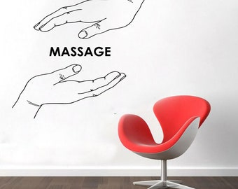 Wall Decal Window Sticker Beauty Salon Spa decal massage decal spa salon decals t76