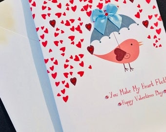 You Make My Heart Flutter - Valentines Card