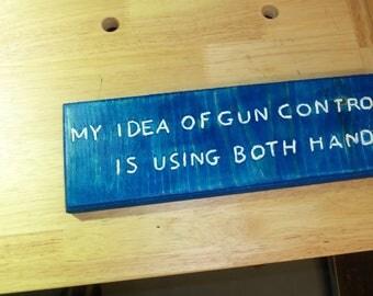 My idea of gun control