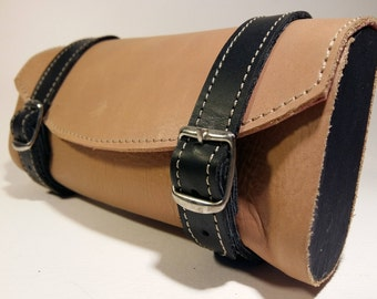 Leather classic bike tool bag