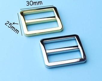 2pcs Triglide Strap Keeper for 1''inch strap Slide Buckle Leathercraft Bag Belt Adjuster /bag strap Adjustable Strap slider30*25mm tjk6