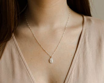 Traveler's Necklace- .925 sterling silver St. Christopher necklace