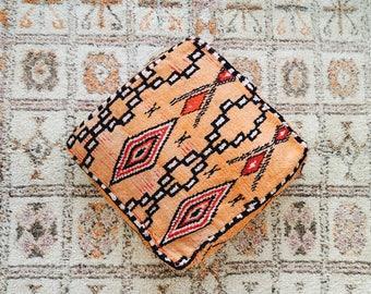 Tango Eclectic Vintage Moroccan Floor Cushion Pouf Sofa Cover Boujaad Kilim