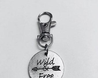 Wild & free keychain