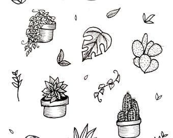 House Plant Print A5