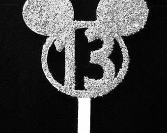 Mickey head cake topper