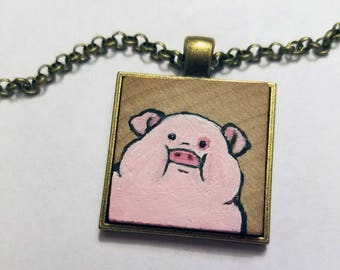 Gravity Falls Hand-painted Waddles Pendant/Necklace